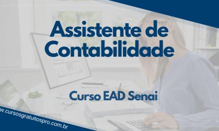 Curso EAD Senai Assistente de Contabilidade 2021